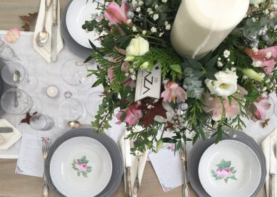 mesa banquete boda shabbychic